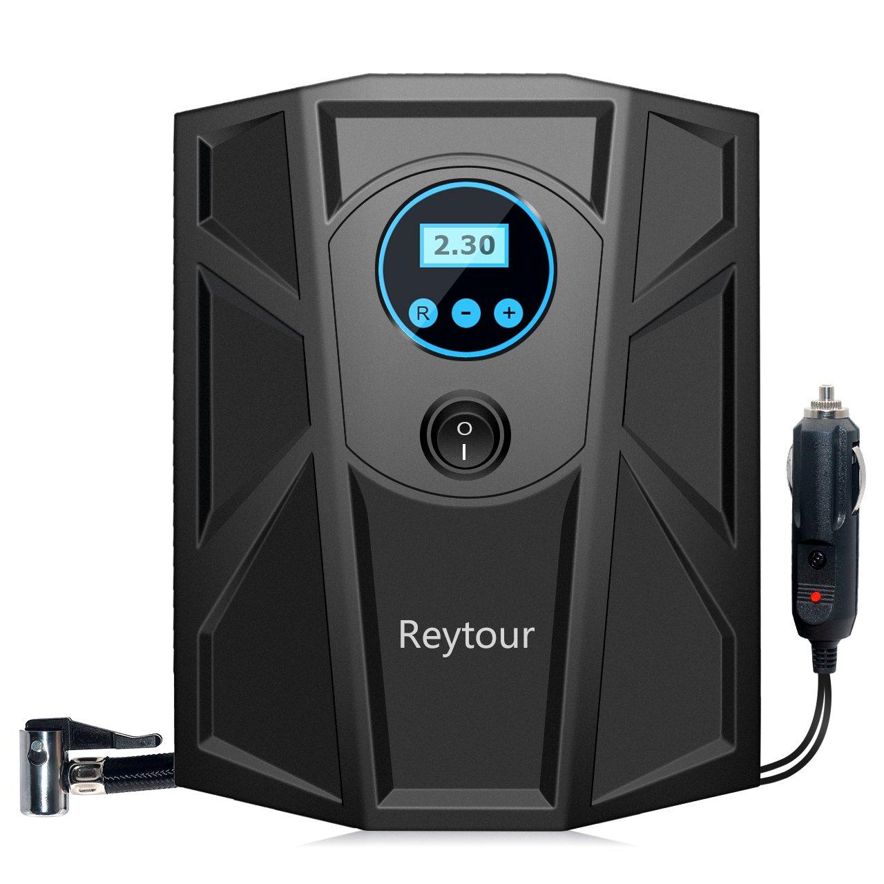 Tire Inflator, Digital 12V Portable Auto Air Compressor Pump, Preset Pressure, 100PSI for Vehicles, Tires Balls, Inflatable Objects