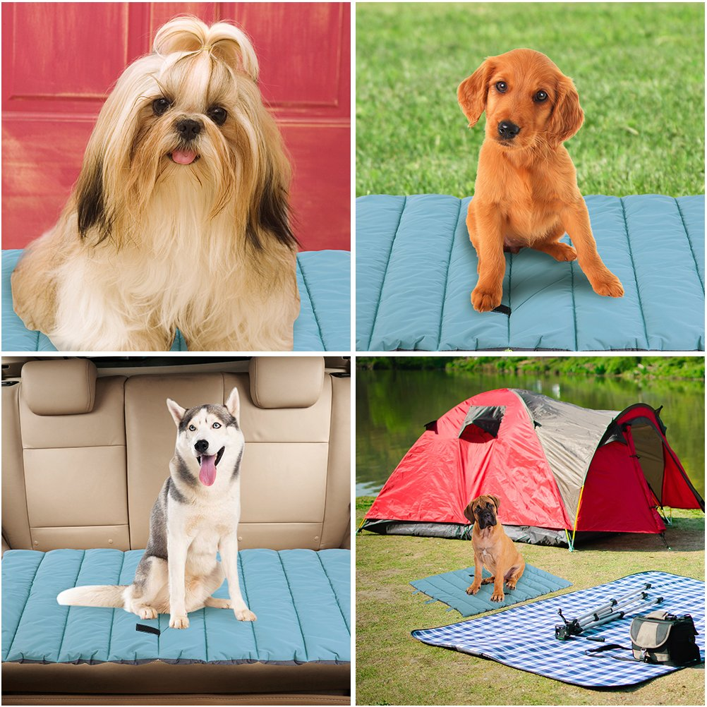 Waterproof Pet Bed Mats Cover for Cat & Dog Outdoor Cooling Brown Large by PUPTECK (Image #6)