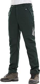 Sidiou Group Pantaloni da Trekking Uomo Pantaloni Softshell Donna Pantaloni da Arrampicata Pantaloni da Escursionismo Foderato in Pile Pantaloni Impermeabili