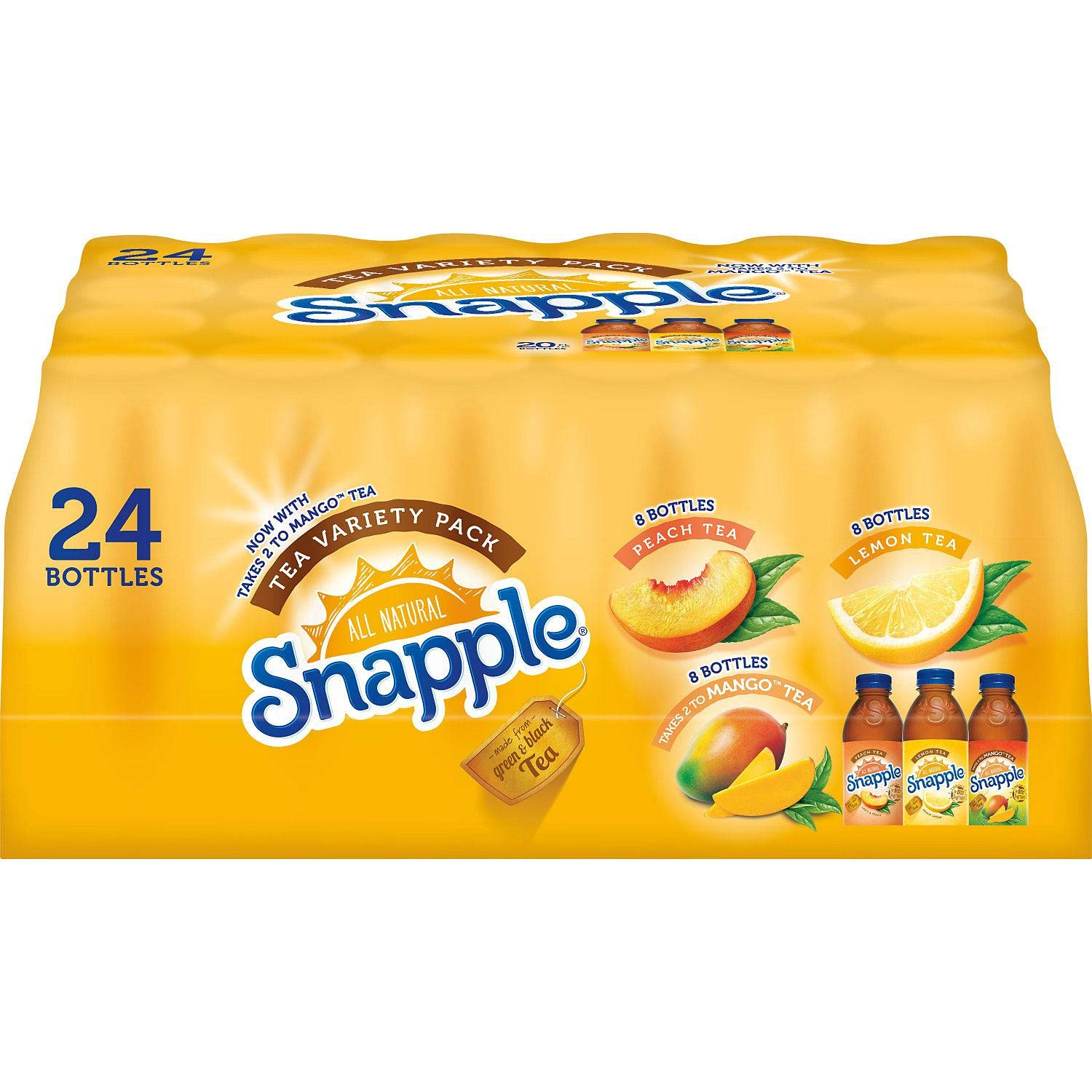 Snapple Iced Tea Variety Pack, 24Count by Snapple