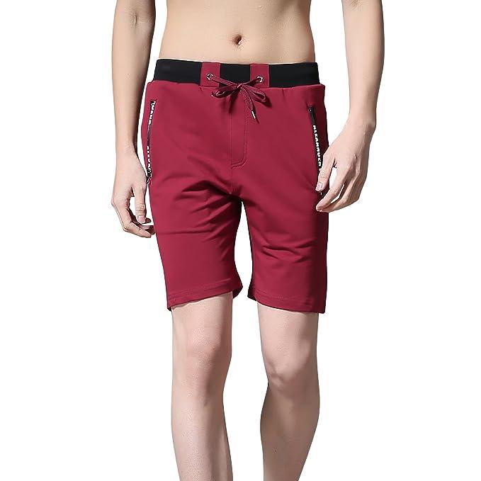 Dolamen Pantalón Corto para Hombre, Algodón Fitness Short Hombre pijama Deportivos Runing Jogging Pantalon,