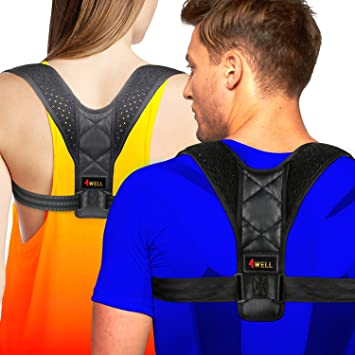 cd4c3cb5726b5 4well Posture Corrector for Women Men - Rounded Shoulders Ultimate Comfort  Designed in USA - Wearable