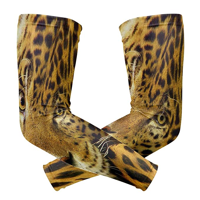 Amazon com: Leopard Africa Wilda Nimal Arm Sleeve