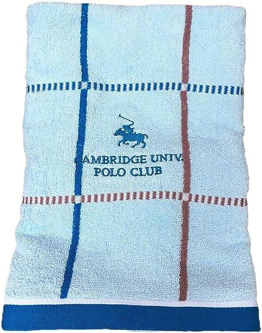 Lfives-hm Toallas de Playa Toalla de algodón de Doble Cara Terry-teñido Jacquard Bordado Classic Square de baño de la Mujer Azul para Viajes de Gimnasio: Amazon.es: Hogar