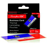 Swingline GBC UltraClear Thermal Laminating Pouches, Business Card Size, 5 Mil, 100 Pack (51005)