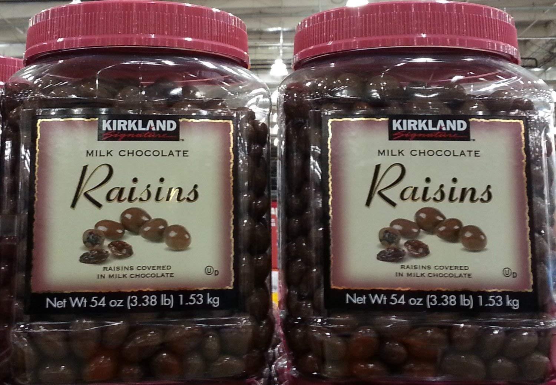 Kirkland Signature Milk Chocolate Raisins Covered in Milk Chocolate: 54 Oz (3.38lb) - 2 Pack by KIRKLAND SIGNATURE