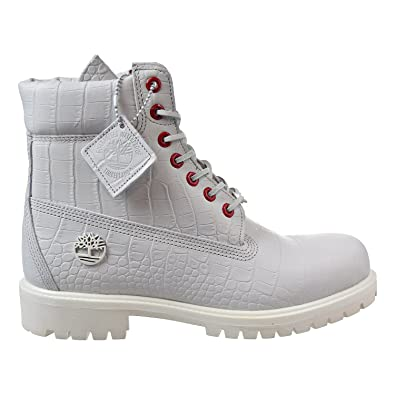 Timberland 6 Inch Men s Boots White Exotic tb0a1p9q (9 D(M) US)  Buy ... d4a61418e9