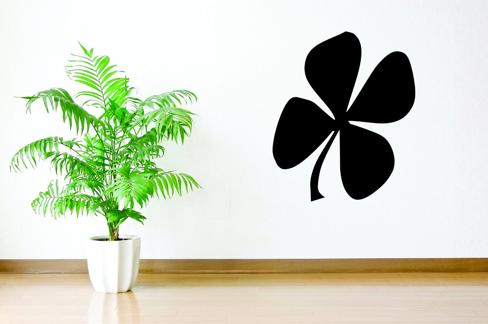 12 x 18 Patricks Day Holiday Irish Wall Decal Design with Vinyl RAD 1063 1 Polka-Dots Clover Lucky Shamrock St Black