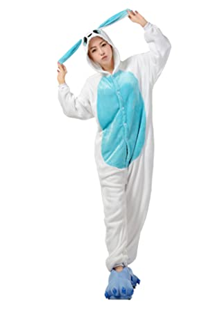FashionFits Unisex Jumpsuit Bunny Suit One Piece Pyjama Rabbit Homewear Pajama S