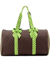 """Lar Lar Quilted Solid 21"""" Large Travel Duffle Bag"""