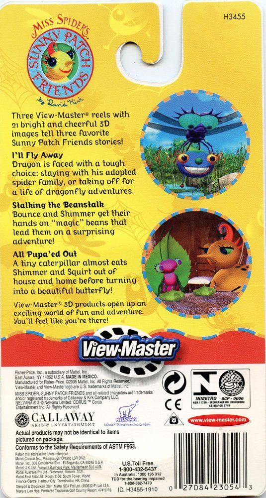 ViewMaster - Miss Spider's Sunny Patch Friends - 3 Reels on Card- NEW AND UNOPENED by 3Dstereo ViewMaster