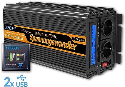 Convertisseur de tension 1000W 12V-230V Transformateur
