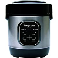 Magic Chef 3-Cup Stainless Steel Rice Cooker w/Cooking Pot