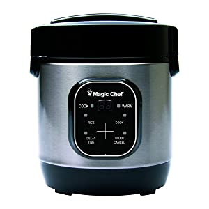 Magic Chef 3-Cup, MCSRC03ST Rice Cooker Stainless