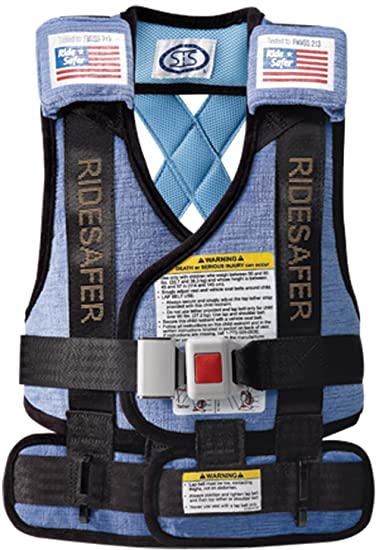 Safe Traffic System Ride Safer 3 Travel Vest Blue Large