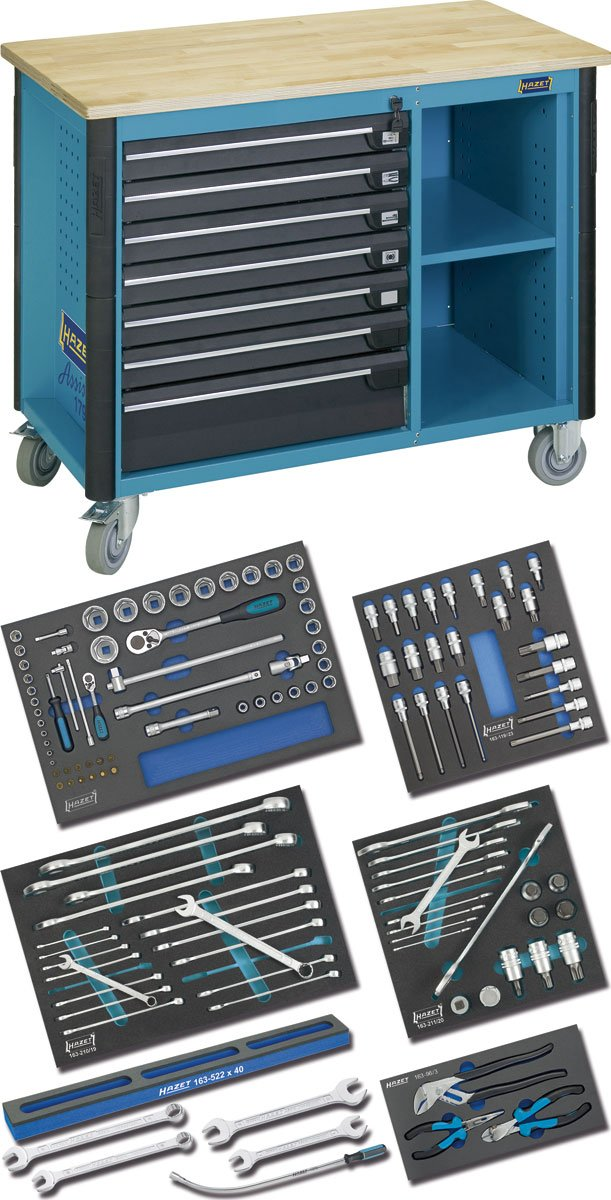 Hazet 179W-7/128 Mobile work bench with commercial vehicle assortment by Hazet (Image #1)