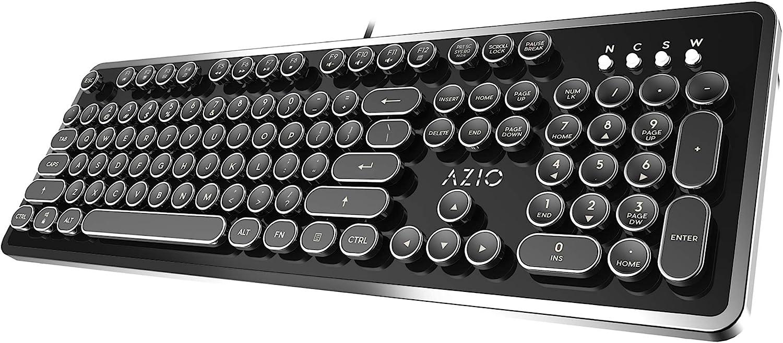 Amazon.com: Azio Retro - USB Mechanical Keyboard (Blue Switch): Computers & Accessories
