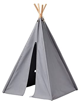 Kids Concept wooden Cotton Mini Tent Tipi Teepee Play Tent Children s  50X50X82 CM Grey a246e6afb1d16