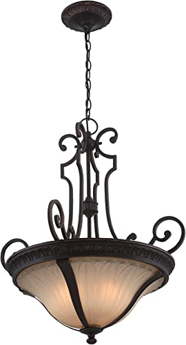 Lite Source C71350 Crescentia Pendant, Antique Bronze