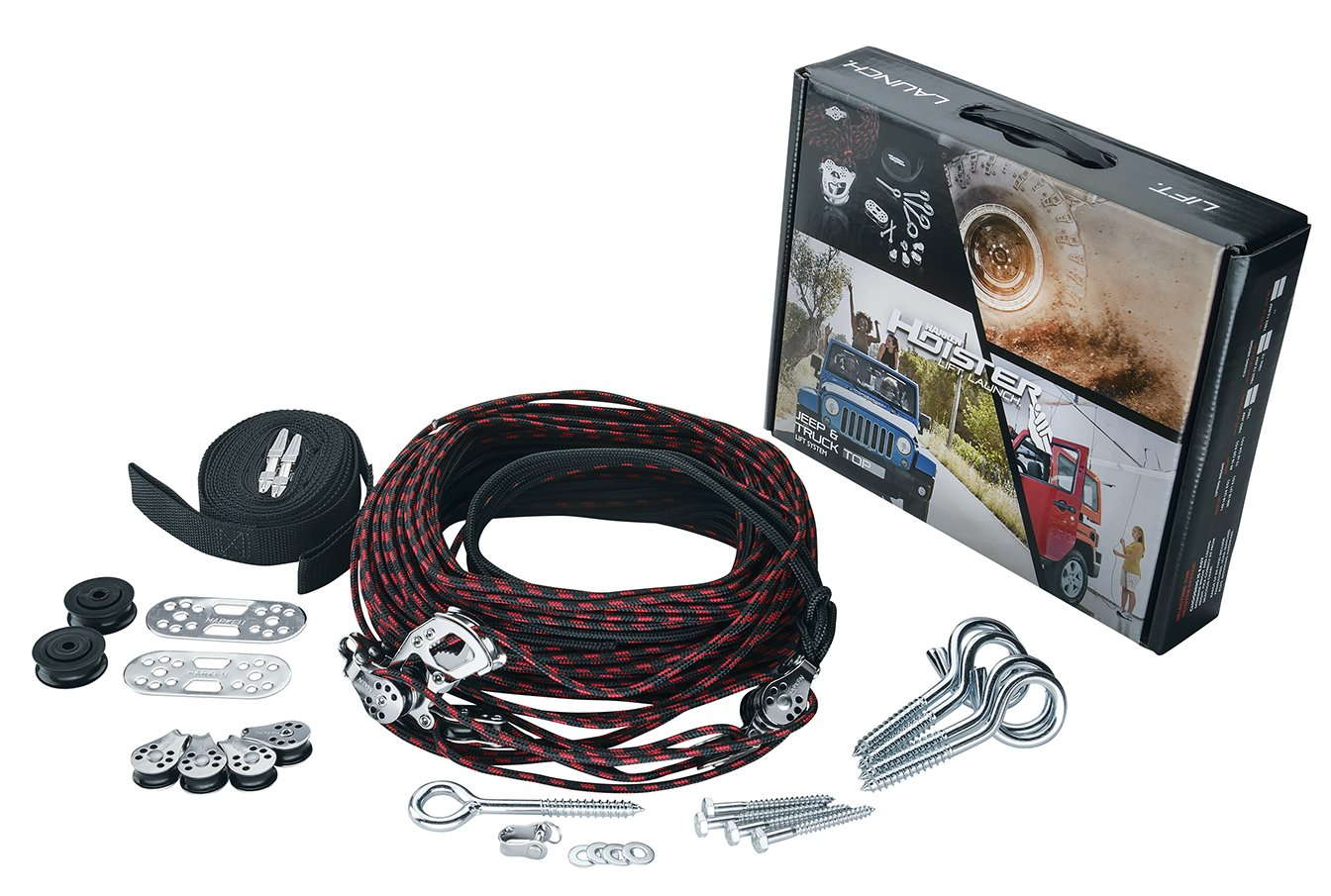Garage Ceiling Storage Lift Harken Hoist with Bonus Rope Cleat | Lift and Store Anything Up to 200lbs | Safe for 1 Person Operation | Lifts Evenly with 8:1 Mechanical Advantage | Organize Your Garage by Harken Hoister (Image #2)