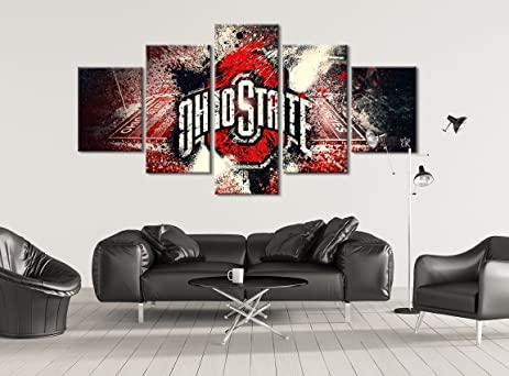 Amazon.com: Ohio State Buckeyes Football Canvas || Modern Sports ...