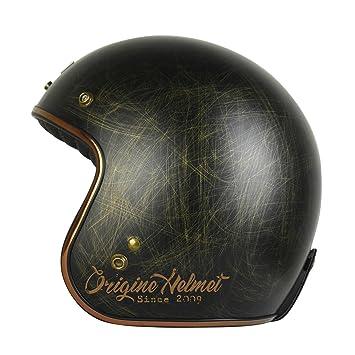 Origine - Primo Scacco - Casco de moto jet Cafè Racer L Bronze Matt