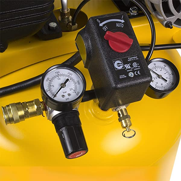 Essentially, the air compressor provides 6.2 CFM @ 40 psi and 5.3 CFM at 90 psi for maximum tool operation.