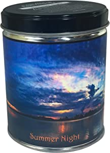 Our Own Candle Company Summer Night Scented Candle in 13 Ounce Tin with a Sunset Label