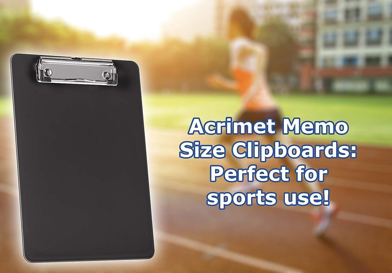 Acrimet Clipboard A5/size Low Profile Wire clip/ /colore nero