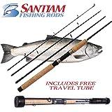 Santiam Fishing Rods Travel Rod 4 Piece 7'6'' 8-17lb MF Graphite Spinning Rod