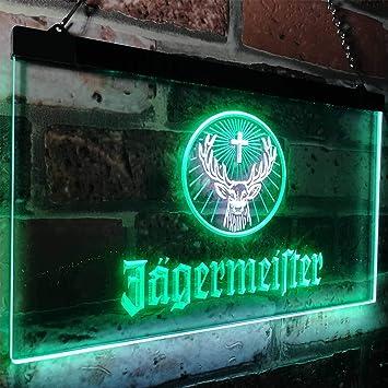 Amazon.com: zusme Jagermeister - Cartel de neón con luces ...