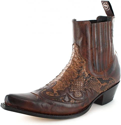 9396P Sendra Boots cowboystiefelette Exotic Python Bottes 0OwNkX8nP