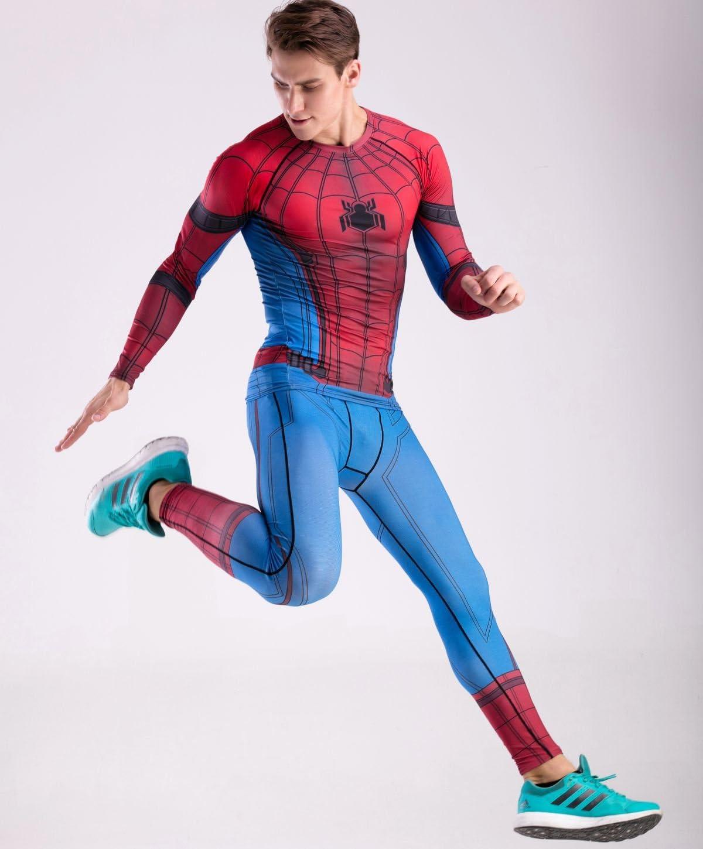 Cody Lundin M/änner Superhelden Serie Party Shirt m/ännlich Motion Joging Party im Freien Stil Sport Long Sleeve