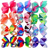 Amazon Price History for:Myamy 6 inches Hair Bows For Girls Large Big Grosgrain Ribbon Boutique Rainbows Hair Bow Clips For Kids Toddlers Teens Children Gifts Set Of 12