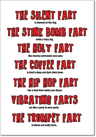 Birthday Fart Poem Funny Greeting Card Amazonca Office Products
