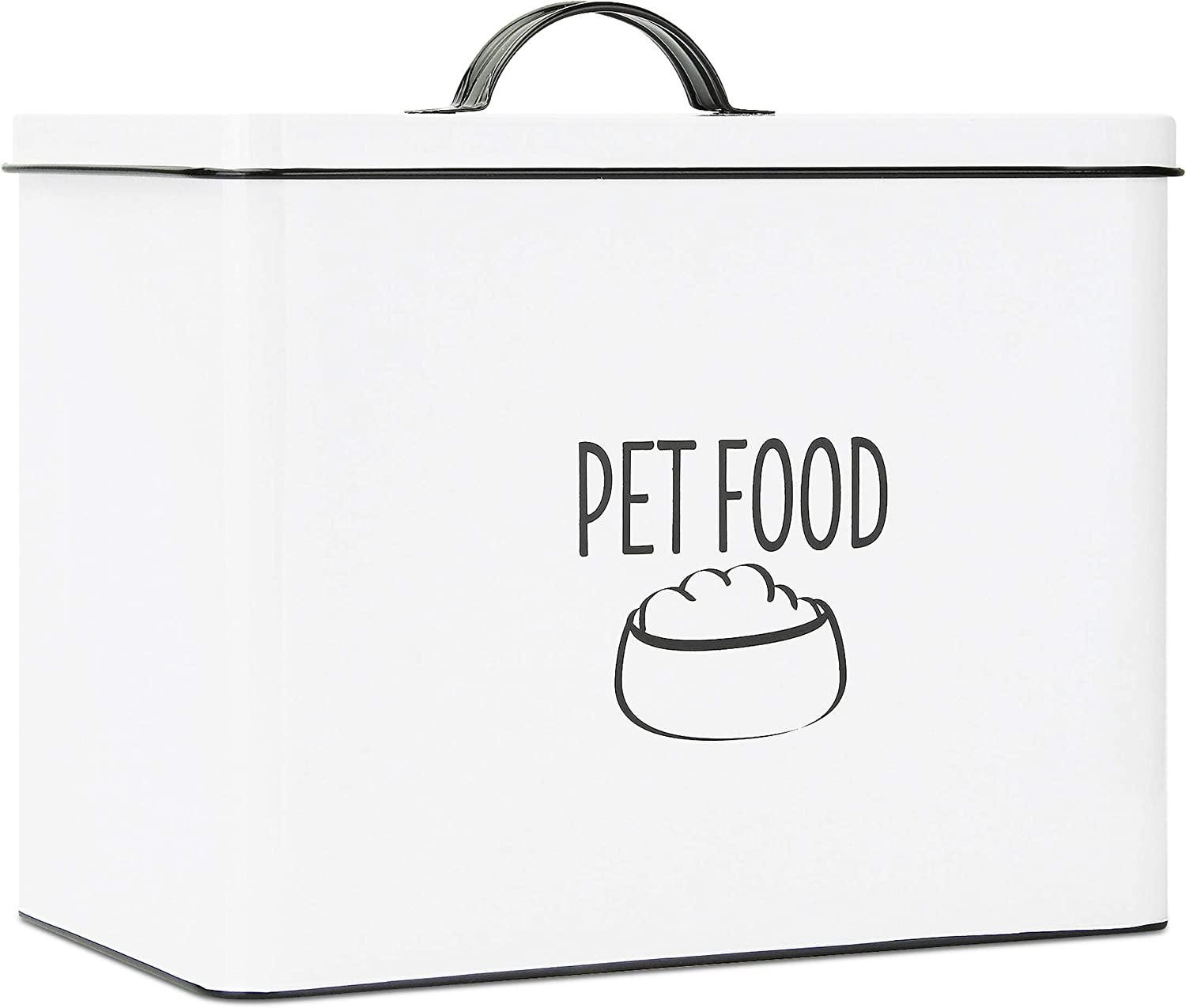 OUTSHINE White Farmhouse Food Bin - Can Be Personalized