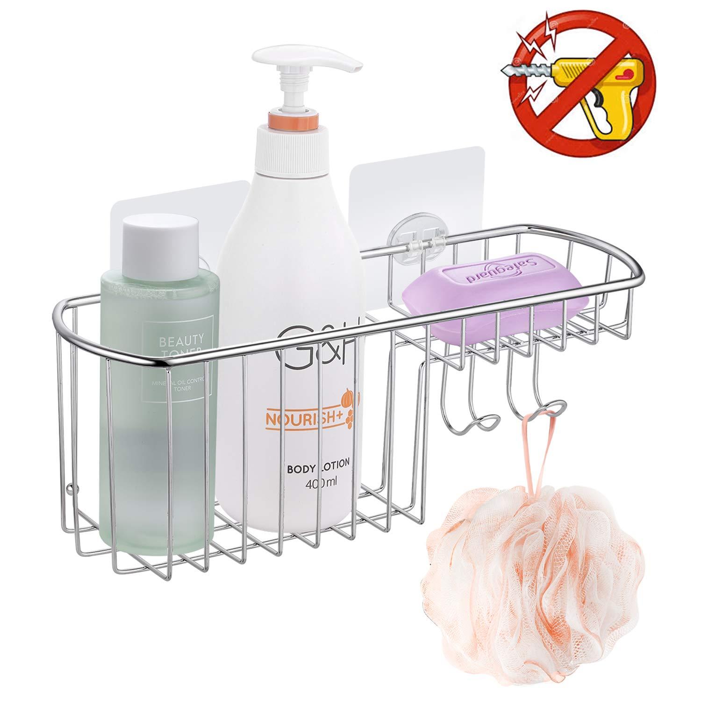 Maxhold Adh/ésif//Porte-savon sans per/çage Panier de douche de salle de bain Panier /à savon en acier inoxydable Jamais rouill/é Porte-/éponge de cuisine