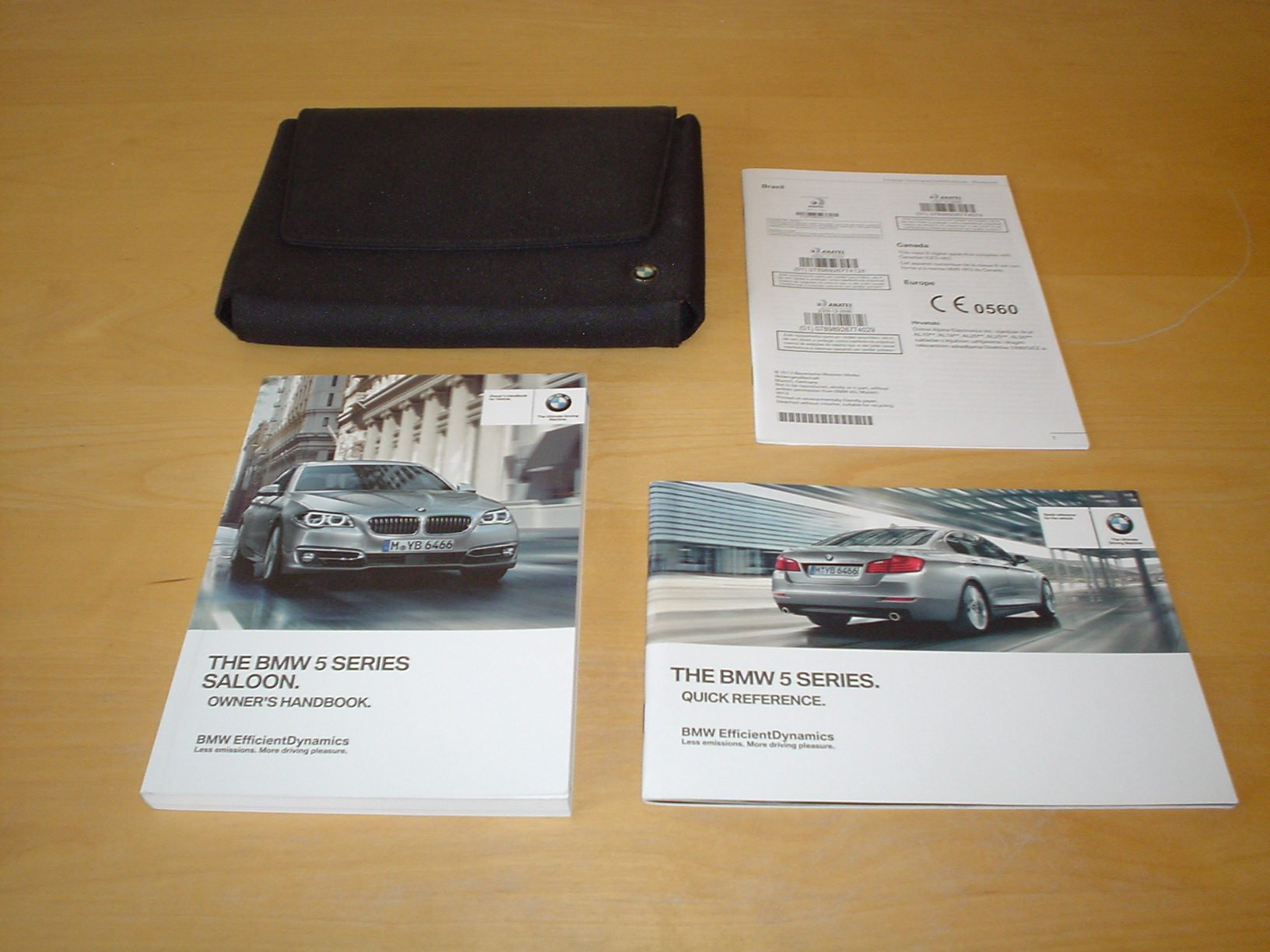 Bmw 5 Series F10 Owners Handbook 2009 2016 Saloon 520i 520li