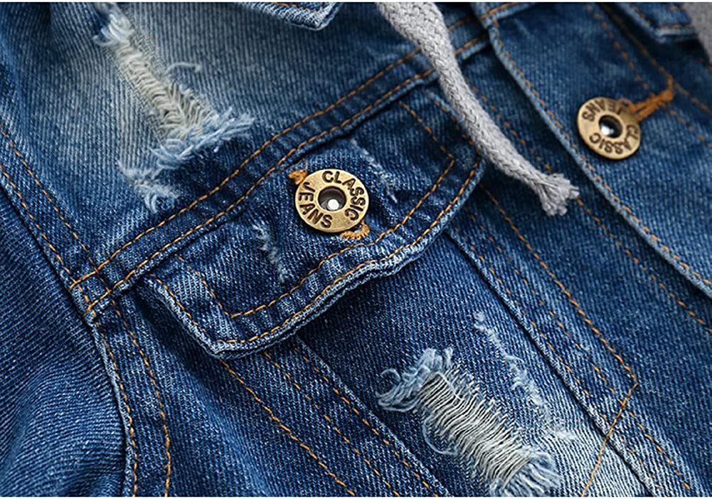 Happy childhood Baby Boys Fashion Denim Jackets Buttoned Hoodie Jeans Outerwear Coats