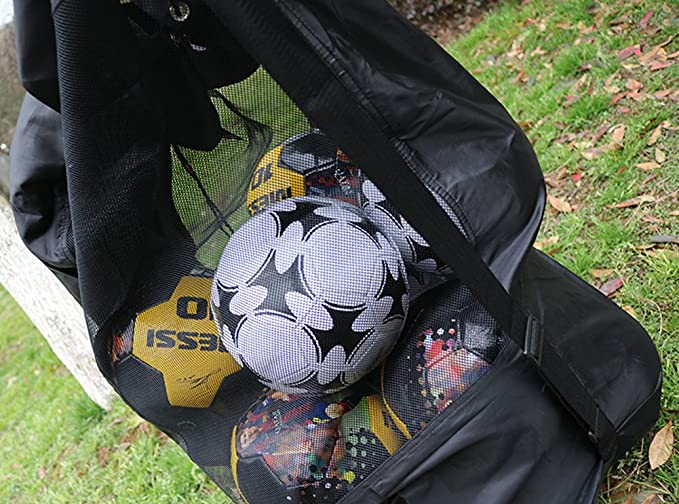 745665f8d9 Extra Large Waterproof Mesh Equipment Duffel Bag Heavy Duty Net Ball  Shoulder Bag Basketball Volleyball Soccer Rug Ball Football Carrying Bag  Tote Storage ...
