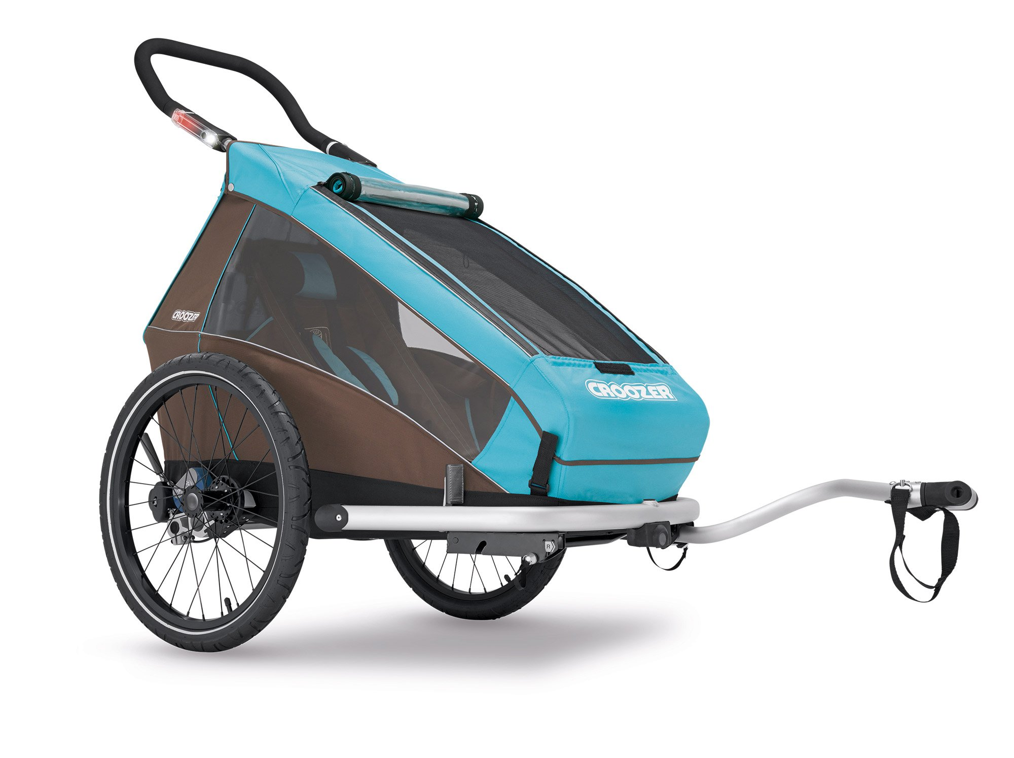 2016 Croozer Kid Plus for 1 - 3 in 1 Single Child Trailer Sky Blue / Brown