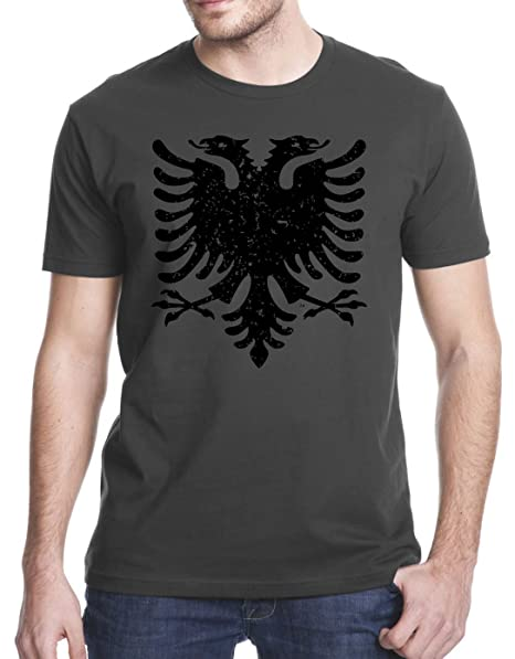Amazon.com: Albanian Eagle Grunge playera: Clothing