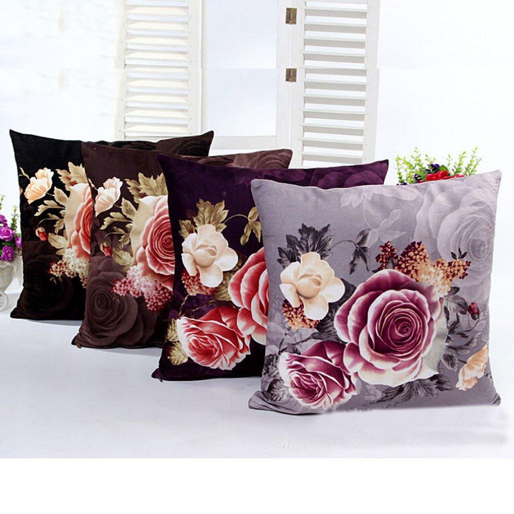 Amazon.com: yjydada impresión de teñido Peony sofá cama Home ...