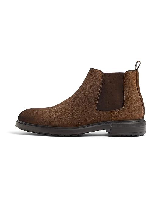 fac5c302964 Amazon.com: Zara Men Brown leather ankle boots - zara light 2004/002:  Clothing