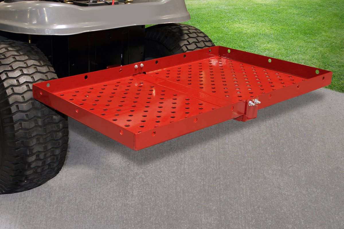 MoJack Multi-Use Hitch + Carrier Tray Combo - Fits Most Residential & Zero Turn Riding Lawn Mowers or ATVs, Provides an Easy Way to Transport Yard Supplies, 75 lb. Weight Capacity by MoJack