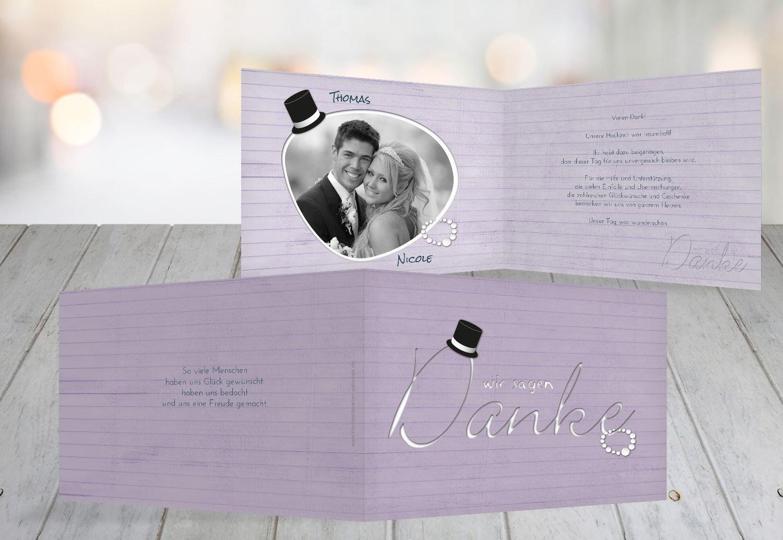 Kartenparadies Danksagung für Hochzeitsgeschenke Hochzeit Dankeskarte Kette Zylinder, hochwertige Danksagungskarte Hochzeitsglückwünsche inklusive Umschläge   10 Karten - (Format  148x105 mm) Farbe  Rosa B01MUD28U8 | Verwendet in der H