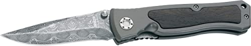 Boker 111054DAM Leo Damascus II Pocket Knife with 3 3 4 in. Steel Blade