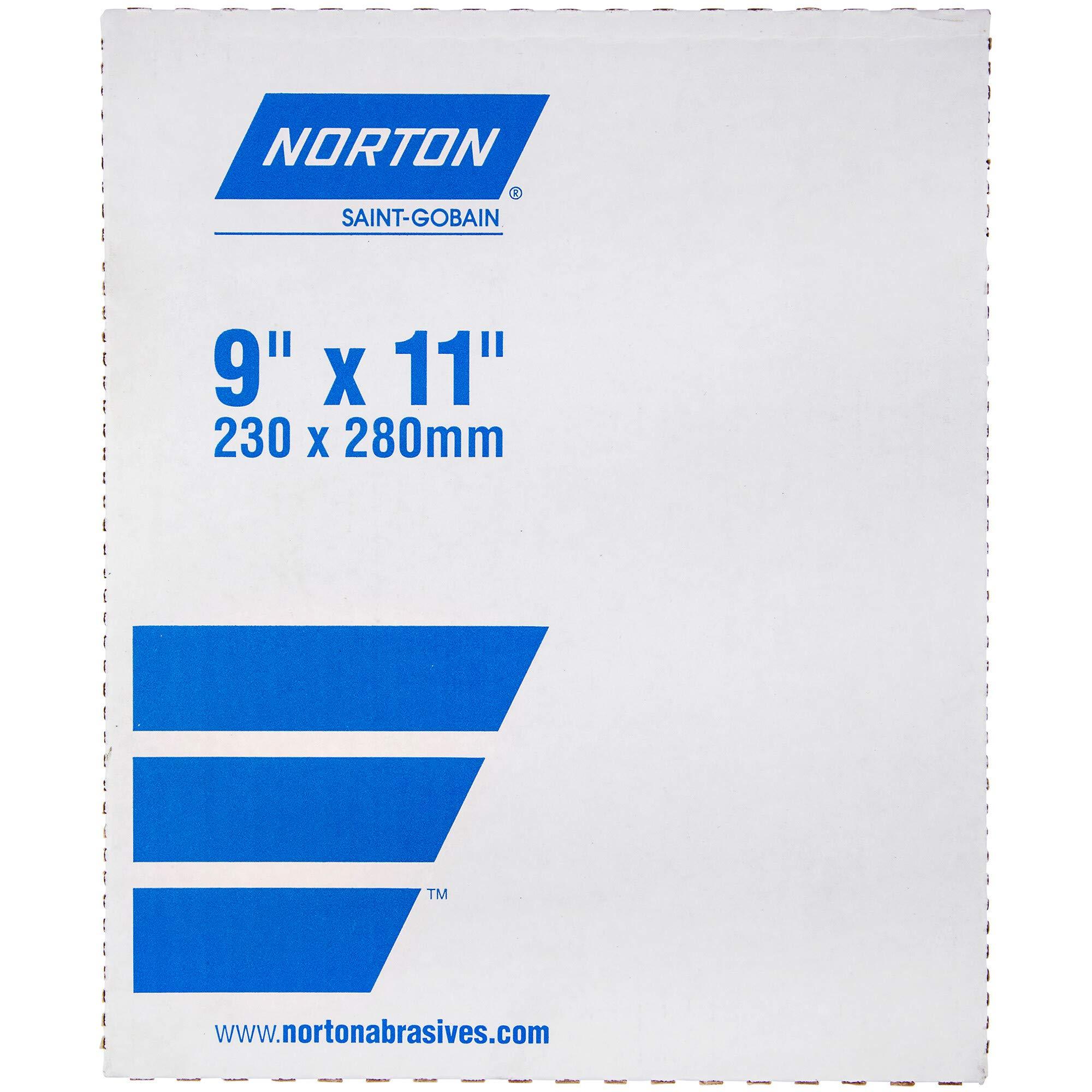 Norton T401 Black Ice Abrasive Sheet, Paper Backing, Silicon Carbide, Waterproof, Grit 1200 (Pack of 50)