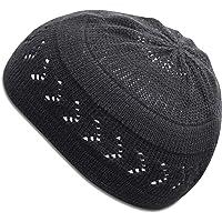 SnugZero - 100% Cotton Kufi Beanie with Arrow Lattice Crochet for Men and Women
