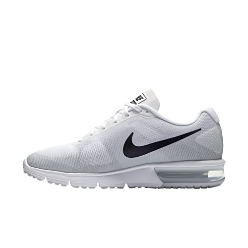 super popular 5be95 b57d0 Nike Air Max Sequent Mens Running Shoes White New in Box  Amazon.in  Shoes    Handbags